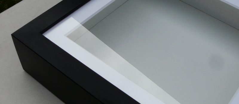 Objektrahmen - tiefe Bilderrahmen schwarz